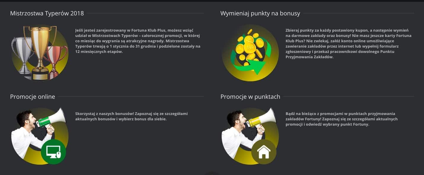 Bukmacher Fortuna promocje