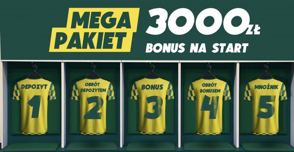 Betfan bonus powitalny. Najwięcej w Polsce - 3000 PLN na start!