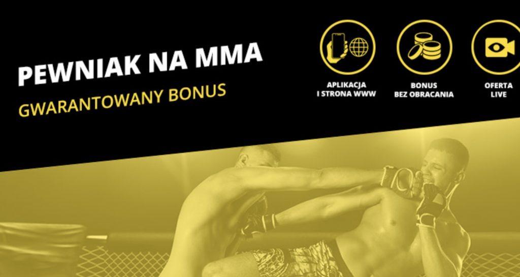 Pewniak na MMA. Bukmacher Fortuna daje 20 PLN pewnej kasy!